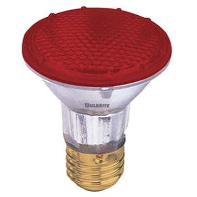 Bulbrite H50PAR20R 120V 50W PAR20 Halogen Light, Red