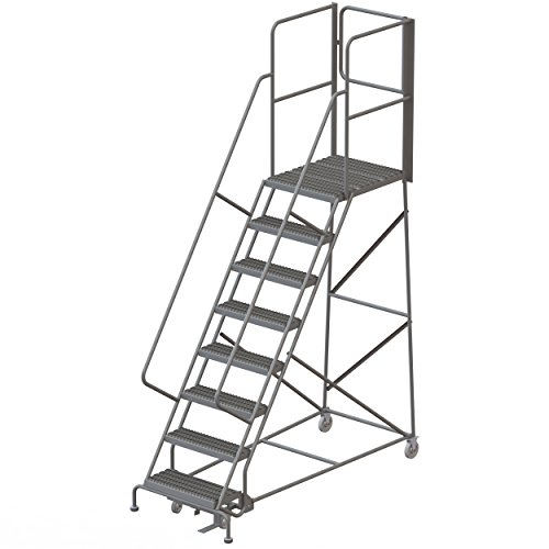 Tri-Arc RWSR108242-XR 8-Step Gateway Rear-Exit Steel Rolling Ladder with 30