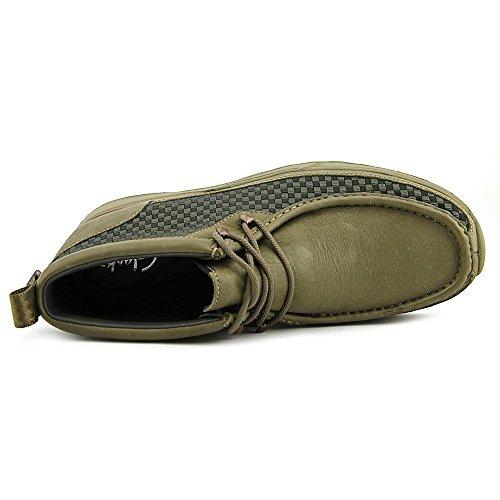 03527 pelle COMB Stealth Tawyer KHAKI in punta Clarks Chukka rotonda Boot xf8g6qwXTw