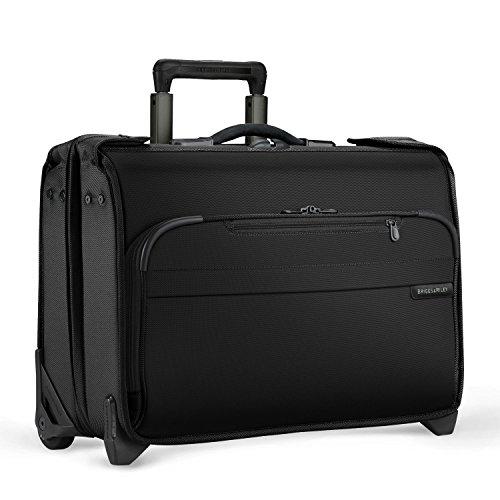 Briggs & Riley Baseline Carry-On Wheeled Garment Bag U174 (BLACK)