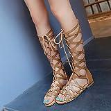 HIRIRI Summer Womens Lace up Knee High Gladiator