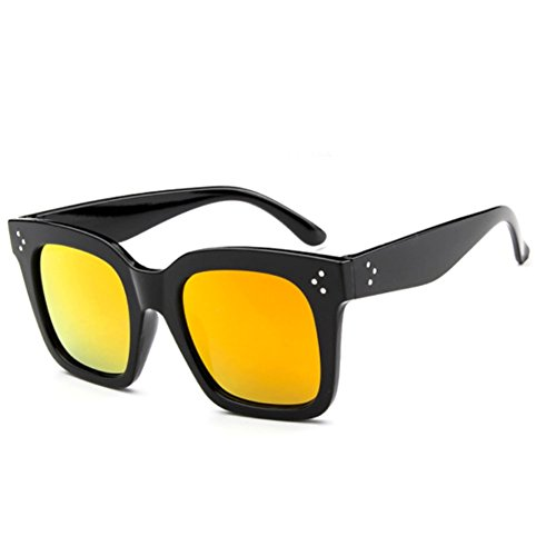 Sinkfish SG80013 Sunglasses for Women,Personality Oval - UV400/Black Frames/Orange - Beach At Vero Outlets