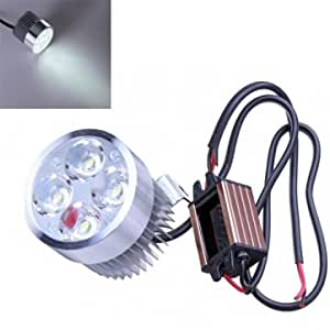 12V Motorcycle Bicycle Led Headlight Storage Battery Car Headlamps --- Color:Condenser