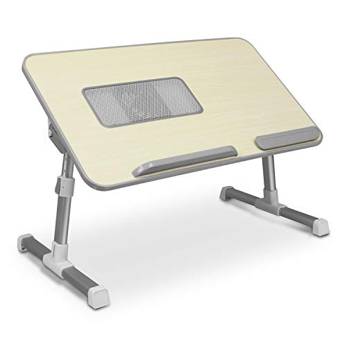(Aluratek (ACT01F) Adjustable, Foldable, Ergonomic, Laptop Cooling Table with Cooling Fan (Standing Desk, Sofa/Couch Tray, Floor))