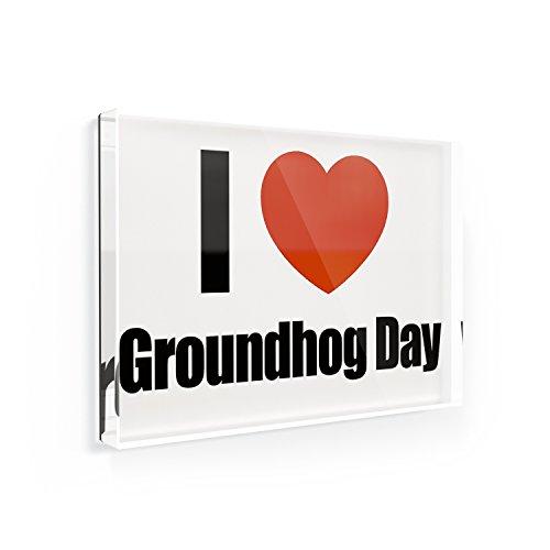 Fridge Magnet I Love Groundhog Day - NEONBLOND