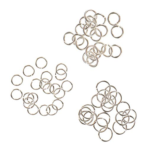 - Fenteer 60 Pieces 4mm & 5mm & 6mm 925 Sterling Silver Open Jump Rings Split Rings for DIY Jewelry Making Findings fit Necklace Bracelet Chokers Charms Pendant