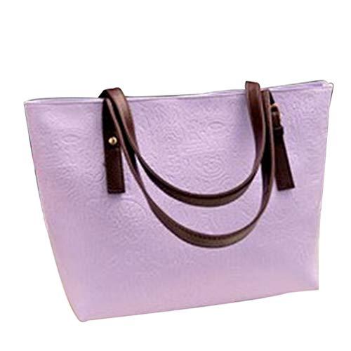Leather Xegood Lady Shoulder Simple 2 Pu Maniglie Bag Borsa Jgwrosa Clear Fashion TT8xwU