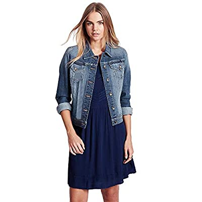 Classic Womens Casual Hole Coat Long Sleeve Pocket Button Denim Jacket Coat
