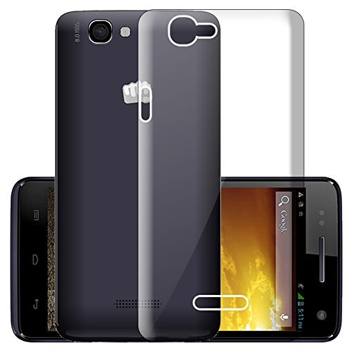 timeless design c0582 fe302 ECellStreet Micromax A120 Canvas 2 Transparent Soft Back Cover