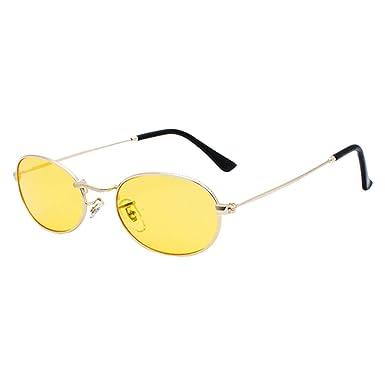 qiansu Moda Mujeres Hombres Gafas de sol ovaladas Populares ...