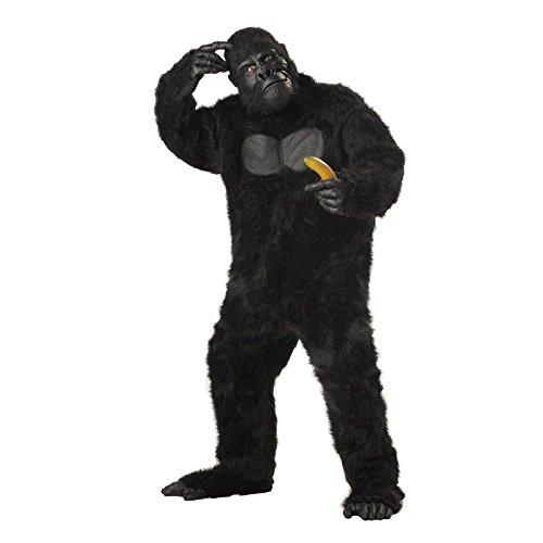 Jungle Costume Male (California Costumes Men's Adult-Gorilla, Black, Standard)