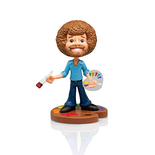 Toonies 6.5-Inch Bob Ross Vinyl Figure - Full Color Version - Collectible - Novelty- Unique Gift for Birthdays, Holidays, House Warming -