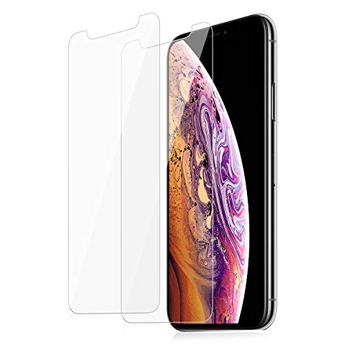 VOMLITE Screen Protector for iPhone XR(6.1), Tempered Glass with Double-Defence, TPU Ultra HD Film, Case-Friendly,Hardness Anti-Shatter Protectors for iPhone XR(6.1)[3D Touch Compatible] [2 Pack]