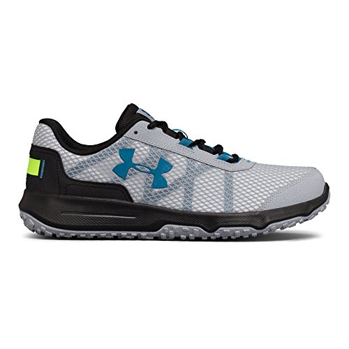 Under Armour Men's Toccoa, Overcast Gray/Black/Bayou Blue, 9.5 D(M) US