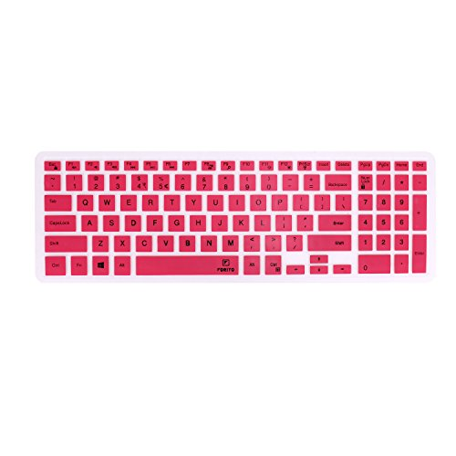 FORITO Keyboard Cover Compatible for 15.6 Dell Inspiron 15 3000 Series / 17.3 Dell Inspiron 17 5000 Series / 15.6 Dell Inspiron 15 3567 i3567 i5570 5577 i5577 7559 i7577 7559 (Pink)