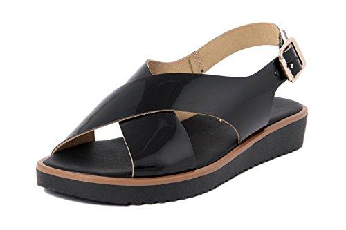 RI-BELLE - Sandalias de Piel para mujer negro negro