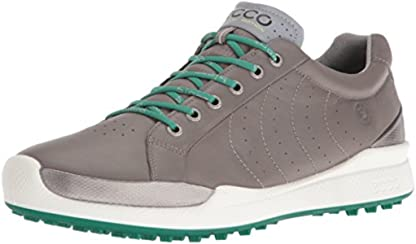 ECCO Men's Biom Hybrid Hydromax Golf Shoe, Warm Grey/Pure Green, 39 EU/5-5.5 M US
