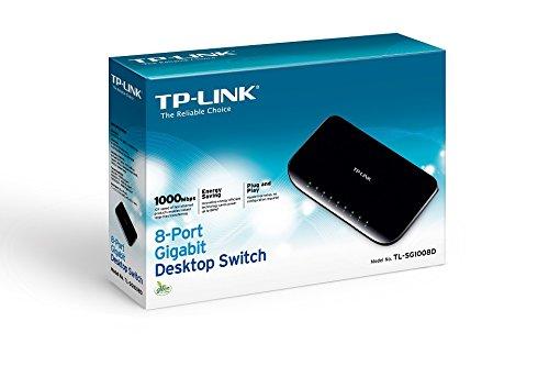 TP-Link 8-Port Gigabit Ethernet Unmanaged Switch w/ Shielded Ports | Plug and Play | Desktop (TL-SG1008D)