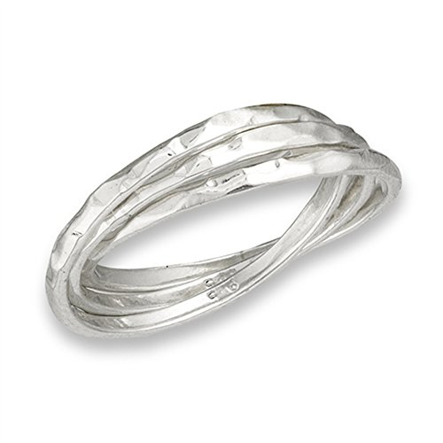Hammered Ring Set - 3