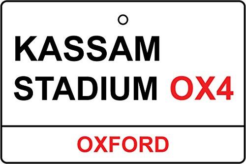 Oxford/Kassam Stadium Street Sign Car Air Freshener (Xmas Christmas Stocking Filler/Secret Santa Gift)