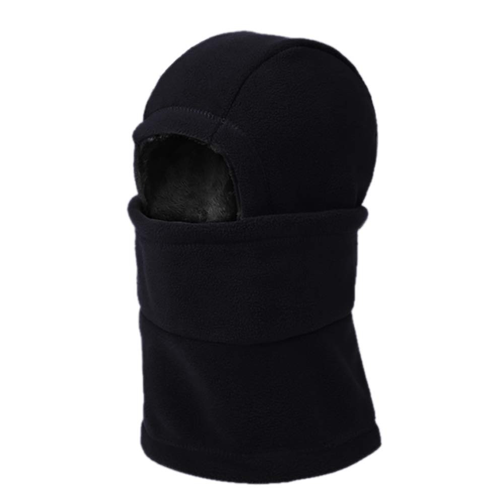 Opromo Unisex Balaclava Ski Mask - Dual Layer Polar Fleece Winter Hat Neck Warmer for Motorcycle Cycling Running-Black-12PCS