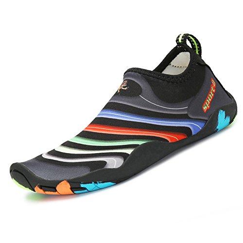 SAGUARO Kinder Badeschuhe Aquaschuhe Schwimmschuhe Wasserschuhe Strandschuhe Water Shoes für Jungen Mädchen Schwarz