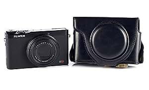 Camkitmate Ever Ready–Funda para Cámara Bolsa + correa para Fujifilm Fuji X-Q1XQ1negro