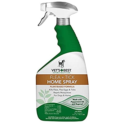 Flea and Tick Home Spray for Dogs and Home, USA Made by Vet's Best