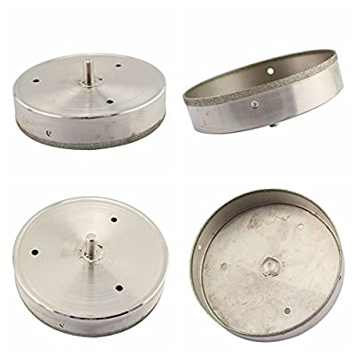 JINGLING Diamond Coated Tool Drill Bit Hole Saw for Glass Tile Ceramic Marble Color Silver