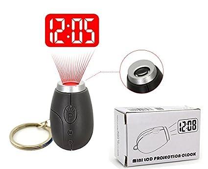 Amazon.com: Portable Mini reloj de proyección, para pared o ...