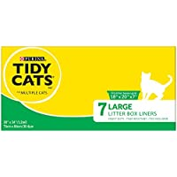 """Purina Tidy Cats Large 30"""" X 34"""" with Ties Litter Box Liners - (6) 7 ct. Box"""