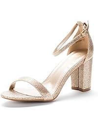 Amazon Com Gold Heeled Sandals Sandals Clothing