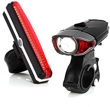 Unigear LED bicicleta luz conjunto, rosa: Amazon.es: Deportes y ...