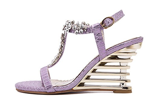 HETAO Personality Ladies Barely There Double Strap Buckle Party Sandals Shoes Size Womens Cross Stiletto High Heel Girl's Gift color Qh7JPyq96g