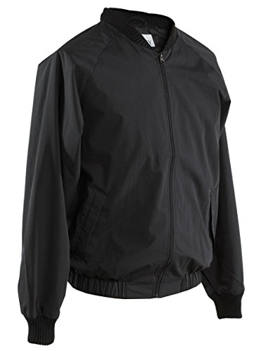 Smitty Full Front Zipper Poly Cotton Shell Jacket, Black, Large