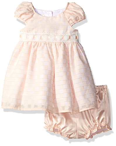 Laura Ashley London Baby Girls' Puff Sleeve Party Dress, Peach, 24M -