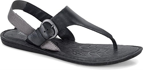 - Born Kasia T-Strap Thong Slingback Flat Sandals, Black, 8 N US / 39 EU