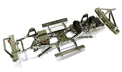 Integy RC Model Hop-ups C26936GUN Steel Ladder Frame Chassis Kit w/Hop-up Combo for SCX-10, Dingo, Honcho & Jeep