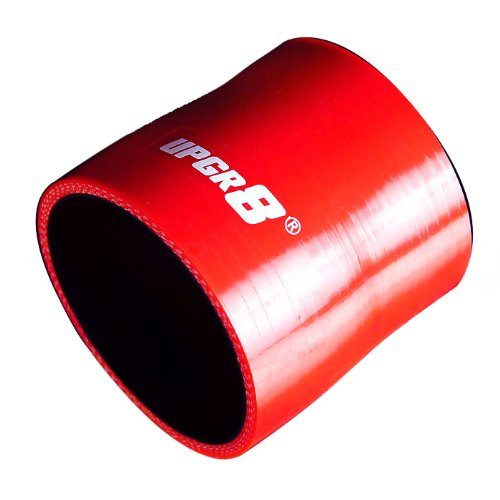 "Upgr8 Universal 4-Ply High Performance Straight Reducer Coupler Silicone Hose (2.75""(70MM) to 3.0""(76MM), Red)"