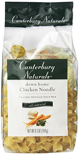 Canterbury Naturals Down Home Chicken Noodle Classic Artisan Soup Mix, 6.5-Ounce Bags (Pack of 6) (Chicken Egg Bag)