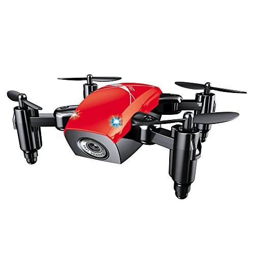 Kanzd S9 Altitude Hold 0.3MP HD Camera 6-Axis Foldable WIFI RC Quadcopter Pocket Drone (Red)