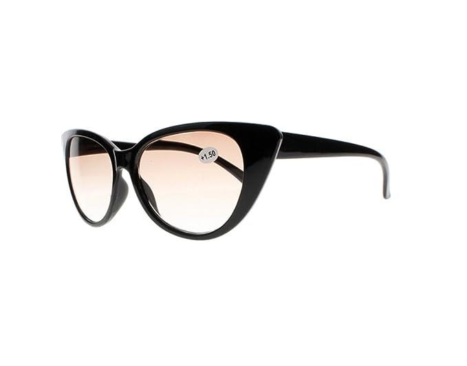 12e62bf4cfac Women Big Cat Eye Tortoise Flowers Anti Reflective Tinted Lens Reading  Glasses Sunglasses +1.0~