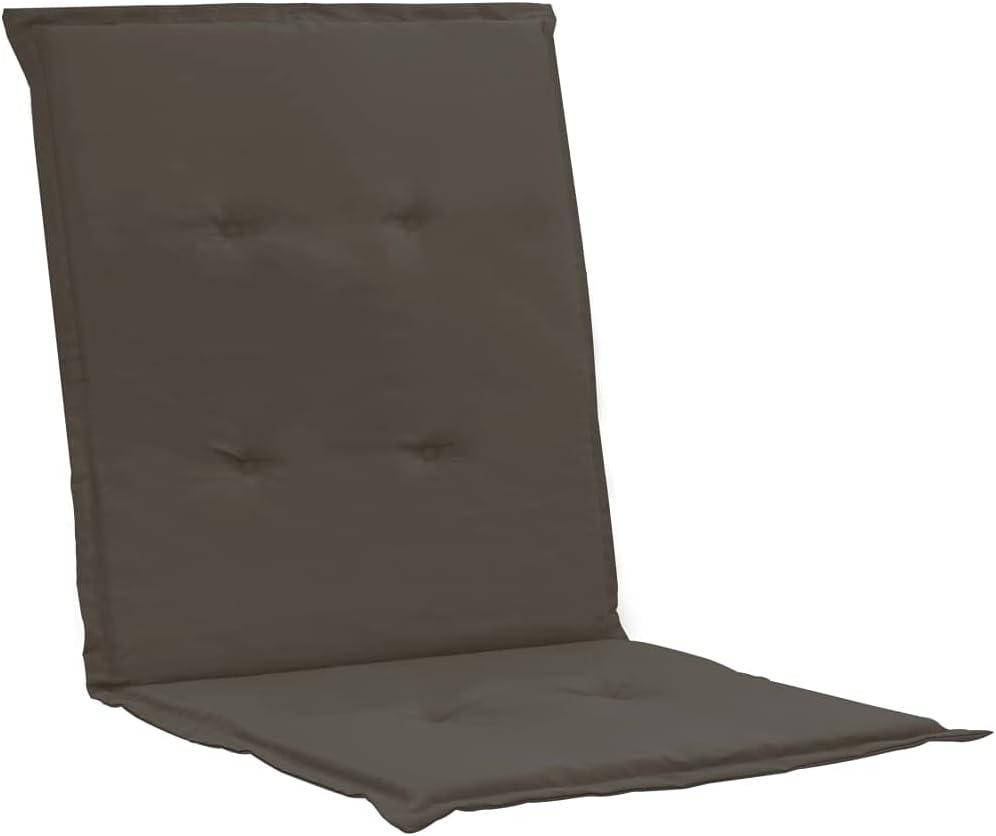 vidaXL 2x Gartenstuhl Auflage Schwarz Niedriglehner Stuhlauflage Sitzauflagen