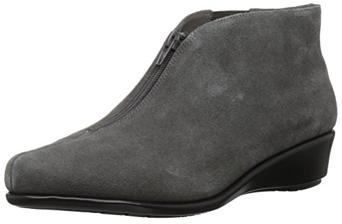 Aerosoles Women's Allowance Ankle Boot, Dark Gray Suede, 9 M US (Faux Strappy Wedges Suede)