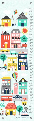 Oopsy Daisy Growth Charts Trip to The City by Ampersand Design Studio, 12 by 42-Inch by Oopsy Daisy