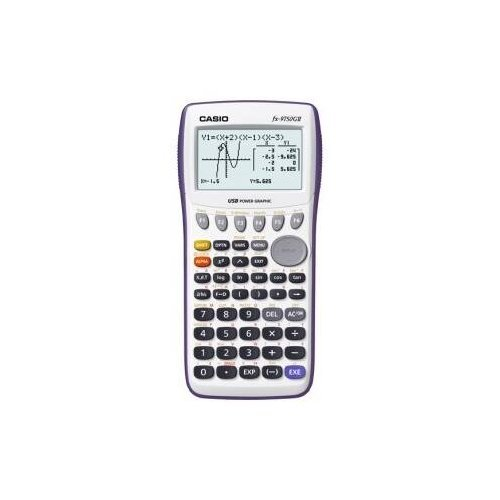 Casio Graphing Calculator with large 21-character x 8-line display with dual screen capability. 62K RAM with USB - White - NEW - Retail - FX-9750GIIWE-L-IH