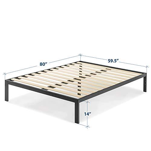 Best Price Mattress Queen Bed Frame - 14 inch Heavy Duty Metal Platform Bed/Wooden Slat Support/Mattress Foundation (No Box Spring Needed), Queen Size