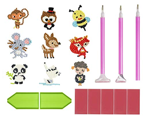 5D Diamond Pianting Kits for Kids DIY Diamond Kits Drawing Tools Crystal Mosaic Sticker by Numbers Kits Arts and Crafts Set for Children