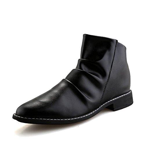 Xujw Xujw Bianca uomo Nero spillo da con 44 largo Stivali Uomo da shoes Color e tacco Dimensione tacco 2018 Stivaletti a EU awraq0