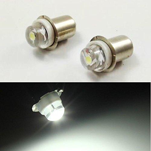 3/5/10PC P13.5S 3V 4.5V 6V 0.5W 6000K White LED Light Bulb Torch Headlight Mini Head Lamp Flashlight - Bulb Petzl